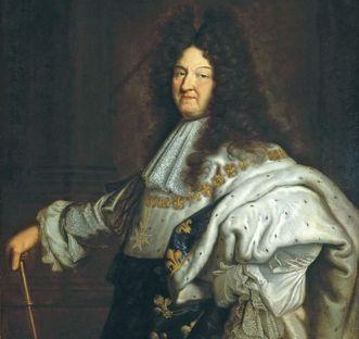 Ölporträt Ludwigs XIV. von Frankreich, der Zerstörer von Burg Rötteln