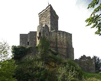 Östliche Ansicht vom Bergfried der Burg Rötteln