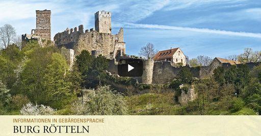 """Startbildschirm des Filmes """"Burg Rötteln: Informationen in Gebärdensprache"""""""