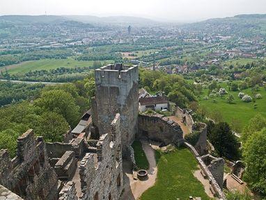 Burg Rötteln von oben